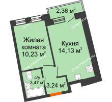 1 комнатная квартира 32,65 м² в ЖК Ватсон, дом № 3А - планировка