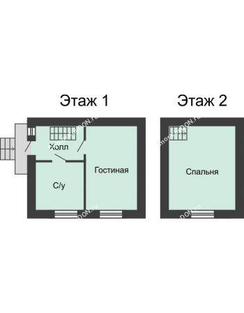 2 комнатная квартира 50 м² в КП Красный сад, дом Тип 2, 50 м²