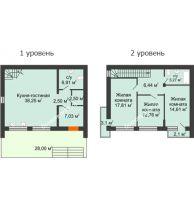 3 комнатный таунхаус 115 м² в Клубный посёлок Панорама, дом Гангутская, 5 (таунхаусы 115м2) - планировка
