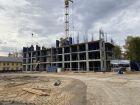 Ход строительства дома № 1, секция 1 в ЖК Заречье - фото 32, Октябрь 2020
