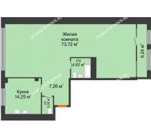 1 комнатная квартира 105,29 м² в ЖК Renaissance (Ренессанс), дом № 1 - планировка