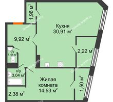 1 комнатная квартира 67,9 м² в Микрорайон Красный Аксай, дом Литер 21