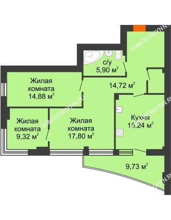 Студия 83,2 м² - ЖК Сергиевская Слобода