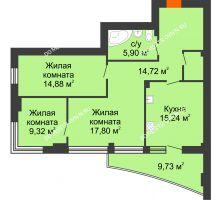 Студия 83,2 м², ЖК Сергиевская Слобода - планировка