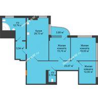 Студия 140,3 м², Жилой дом на ул. Платонова, 9,11 - планировка