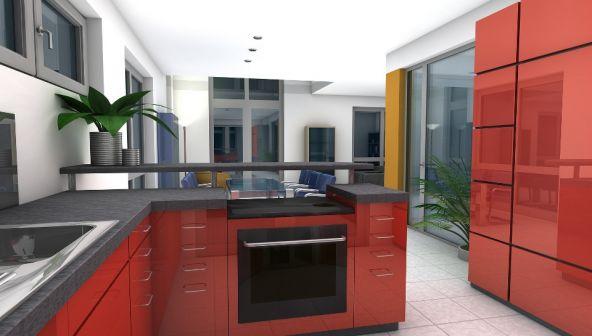 Идея перепланировки 1 комнатной квартиры общей площадью 46,7 кв.м.