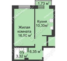 1 комнатная квартира 37,04 м² в ЖК Солнечный, дом д. 161 А/1