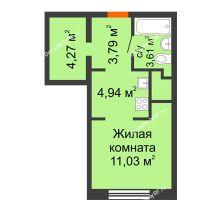 Студия 27,64 м² в ЖК Первая Линия. Гавань, дом № 2.4 - планировка